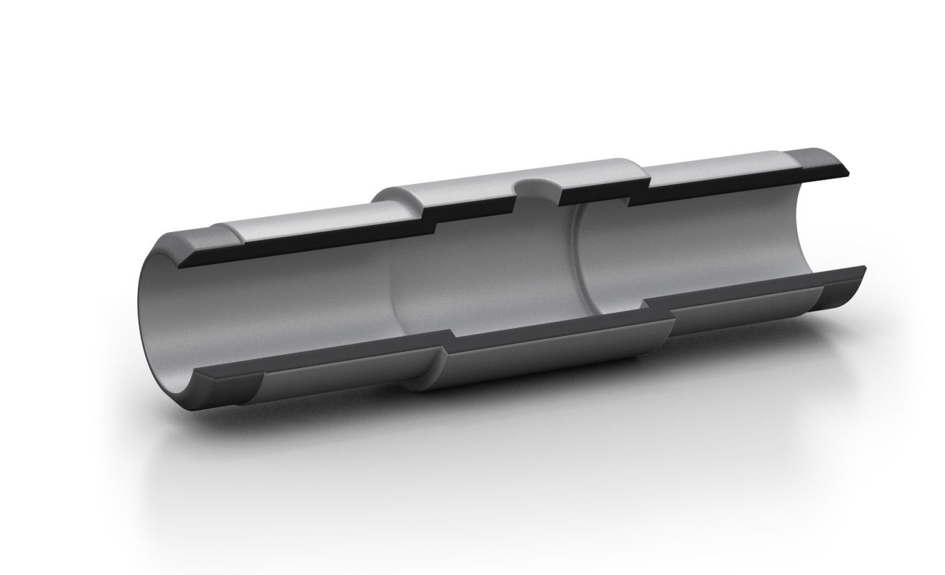 Graphite Tube, pyrocoated 90°, with segment for extended injection volume for Shimadzu, 10 pc/PAK