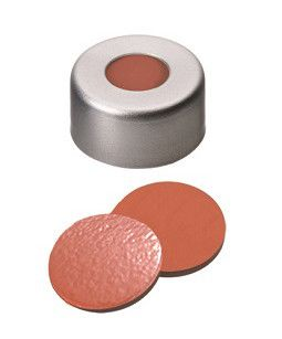 ND11 Crimp Seals: Aluminum Cap clear lacquered with 5,5mm centre hole