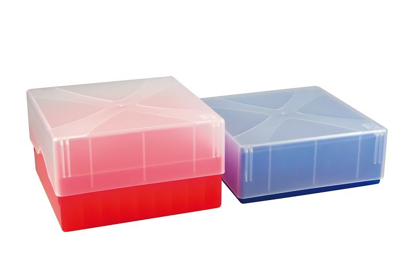 ratiolab®Cryo-Boxes, PP, grid 6 x 6, mixed, 133 x 133 x 50/75 mm, combi-lid, 5 pc/PAK
