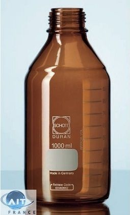 Bottle GL45, 1000 ml for Smart Healthy caps, brown glass