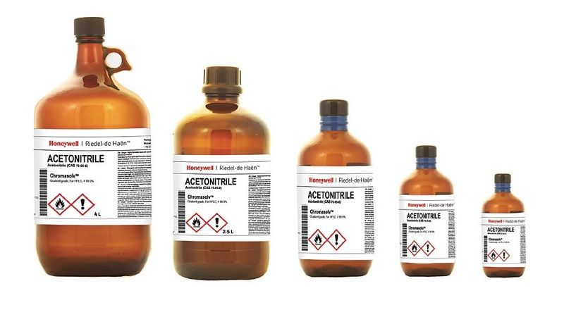 ACETONITRILE G CHROMASOLV, FOR HPLC,SUPER GRADIENT GRADE, Glass Bottle, 4 x 2.5 L