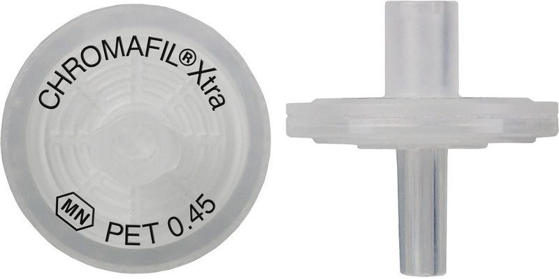 Syringe Filter, Chromafil Xtra, PET, 13 mm, 0,45 µm, PP housing, colorless, labeled