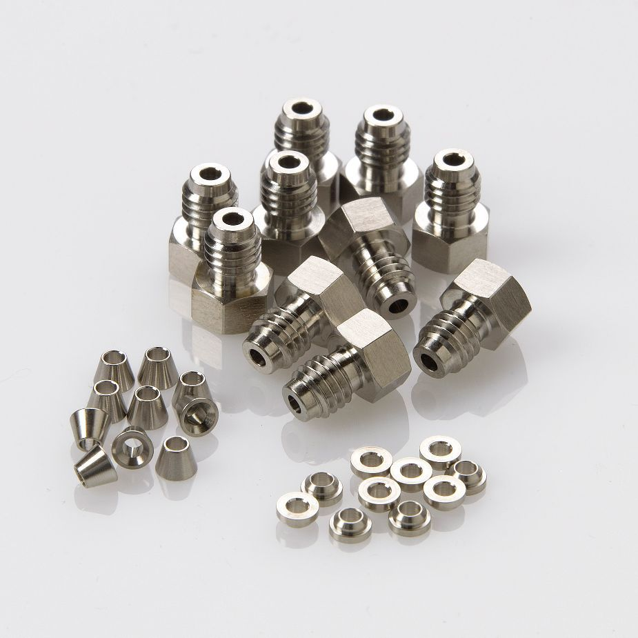 1/16 SS fitting, front and back ferrules, 10/pk