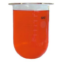 1000mL Clear Glass Vessel for Pharmatest, Serialized