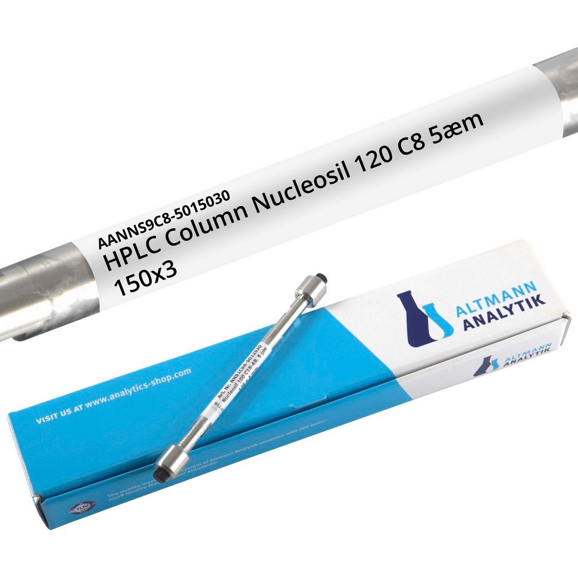 HPLC Column Nucleosil 120 C8 5µm 150x3 mm, 120A