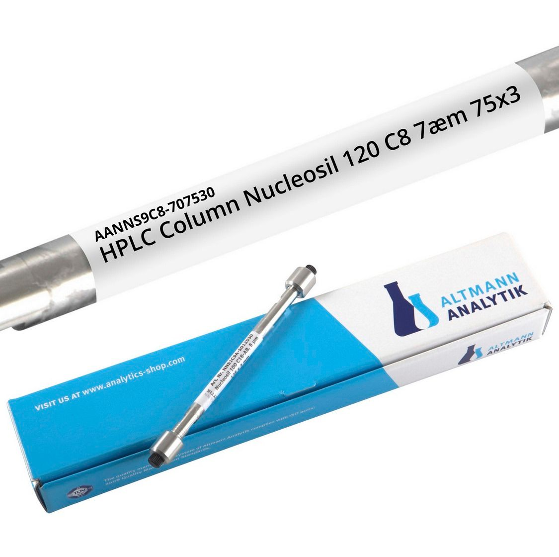HPLC Column Nucleosil 120 C8 7µm 75x3 mm, 120A