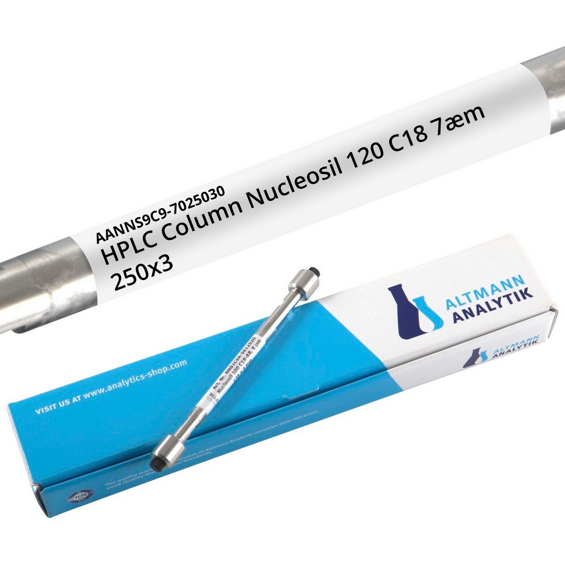 HPLC Column Nucleosil 120 C18 7µm 250x3 mm, endcapped, 120A