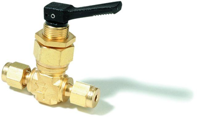 SWAGELOK 0GS2-A,BRASS TOGGLE VALVE 1/8X1/8A EA