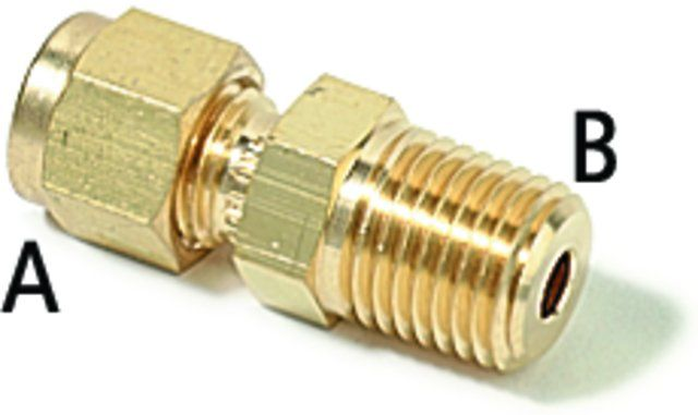 SWAGELOK 200-1-2,BRASS CONNECTOR 1/8TX1/8P PK2